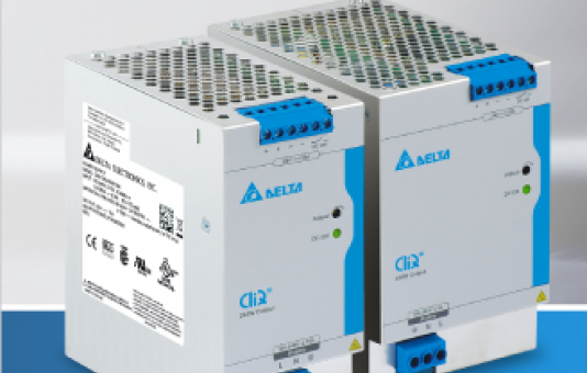 Delta Adds 240W and 480W models within DIN Rail power supply series CliQ III