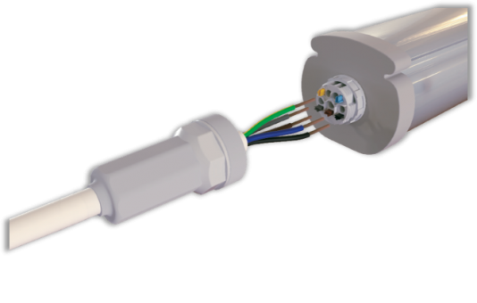 Connecting luminaires quickly & flawlessly with Adels LCS75 waterproof connector