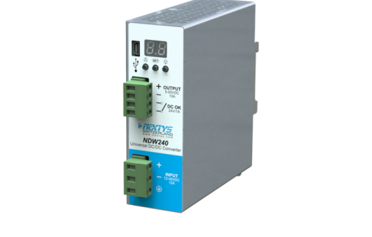 Nextys launches the first programmable Din-Rail DC/DC converter