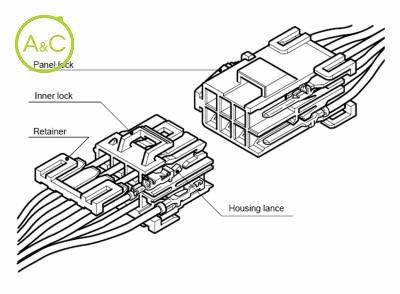 3 Pin Rectangular Connector