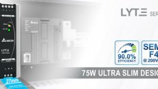 Delta introduces 75W DIN rail power supply of 27mm wide