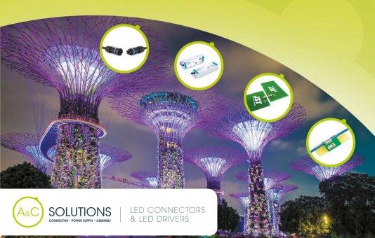 Nieuwe verlichtingsfolder met LED connectoren & LED drivers nu beschikbaar
