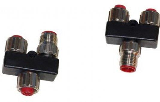 Eenvoudig samenbrengen van verschillende signalen in 1 kabel met Shield's Y Splitter