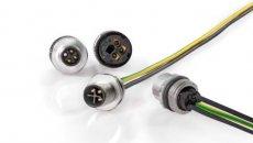 Uitbreiding M12 S-code connector met 2+PE voor 250V toepassingen